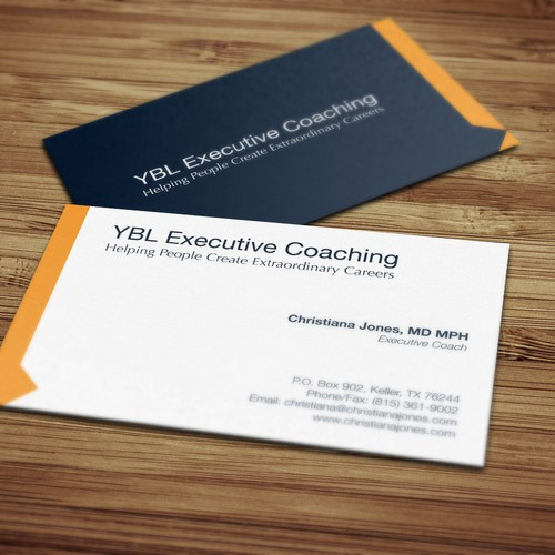 Create a high end business card for executive coaching business runner up design by symsdn colourmoves