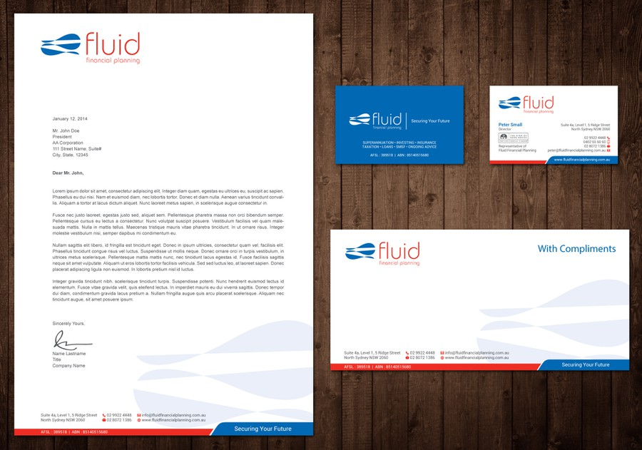 Design Modern, Sylish, Sleek Buiness Card And Letterhead