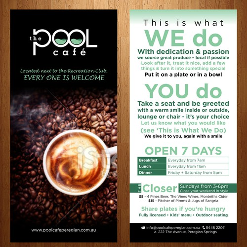 The Pool Cafe, help launch this business Diseño de abunimah