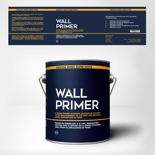 Primer And Paints Packaging Design Required Product Packaging Contest