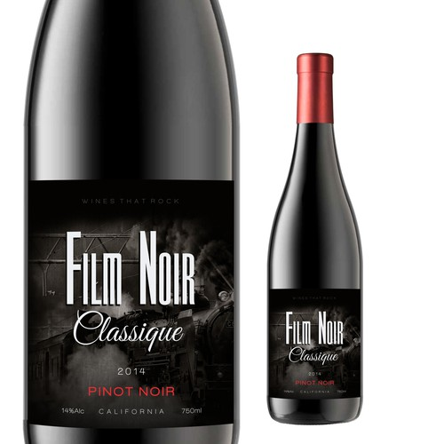 Movie Themed Wine Label - Film Noir Classique Ontwerp door milten