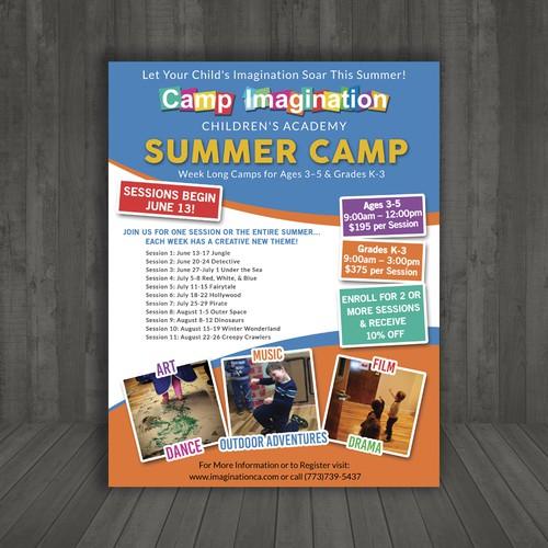 camp imagination arts summer camp ポスターコンペ