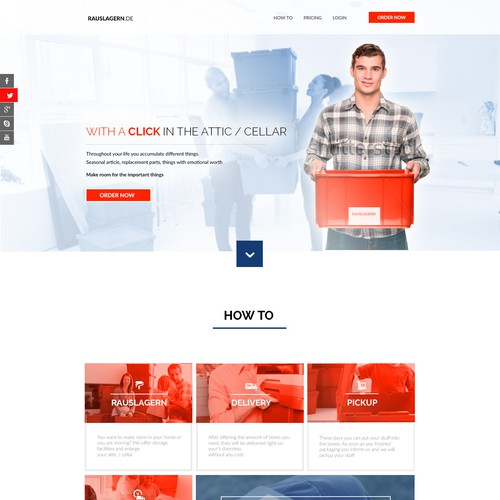Web Design For A Novel Self Storage Approach In Germany Web Page Design Contest 99designs