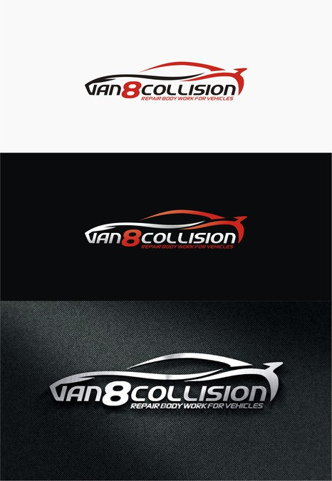 Logo Business Card For Auto Body Shop Logo Visitekaartje