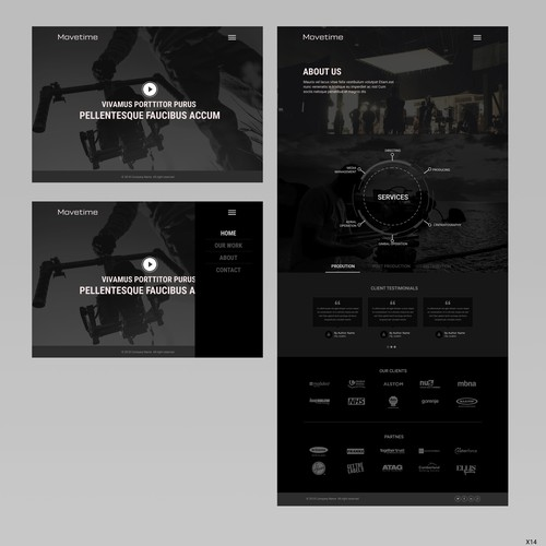 Video Production Company Website // Simplistic Design Design by pb⚡️