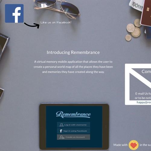 iphone APP  landing page Design by WvanW