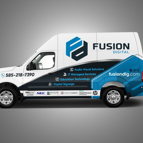 DESIGN VEHICLE WRAP FOR TECHNOLOGY SOLUTIONS COMPANY FLEET