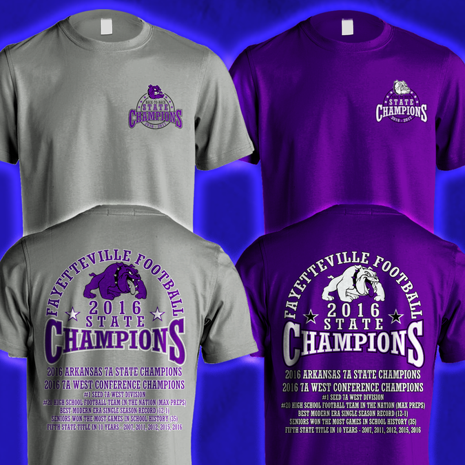 High  Football Shirt Designs | High School Football Championship Tshirt T Shirt Wettbewerb