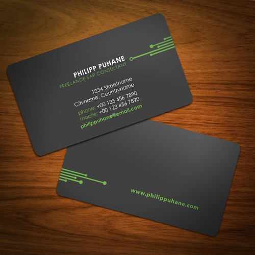 Freelance sap consultant needs design for business card stationery runner up design by ald design colourmoves