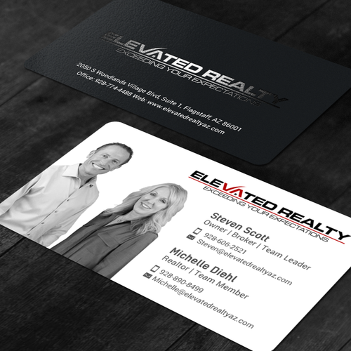 Real estate team needs eye catching business card business card entries from this contest reheart Images