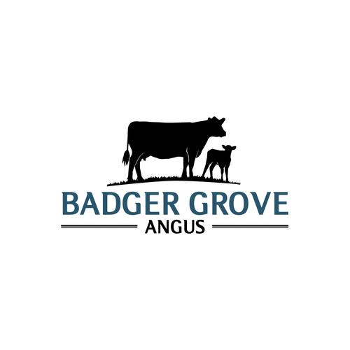 cattle farm logos  Badger Grove Angus farm needs an eye catching logo | Logo design contest