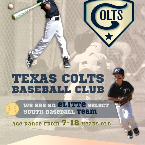 Create a tryout flyer for a Elite youth baseball team | Postcard ...