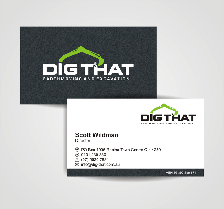 Exciting, fresh and unique logo and business card for Dig That ...