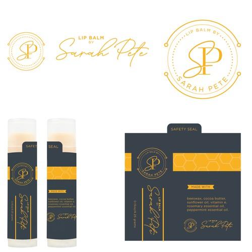 Lip Balm Label Using Clean Rich Design