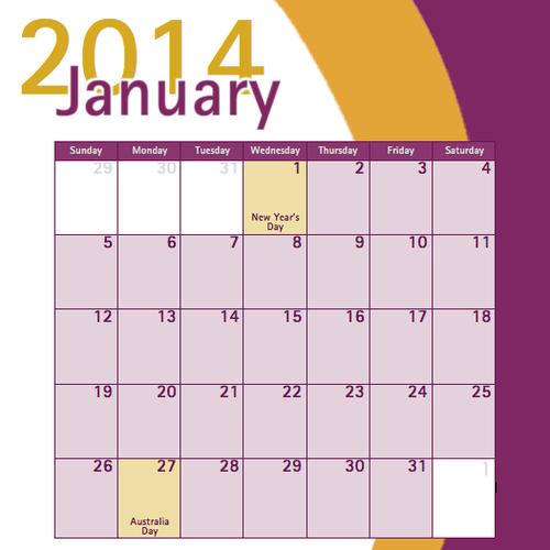 Calendar Design Competition : Desk calendar design for perth home care services other
