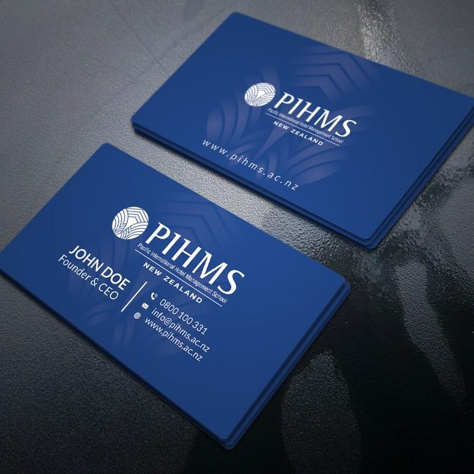 Design a business card for hotel school business card contest business card for hotel school winning design by r4960 colourmoves
