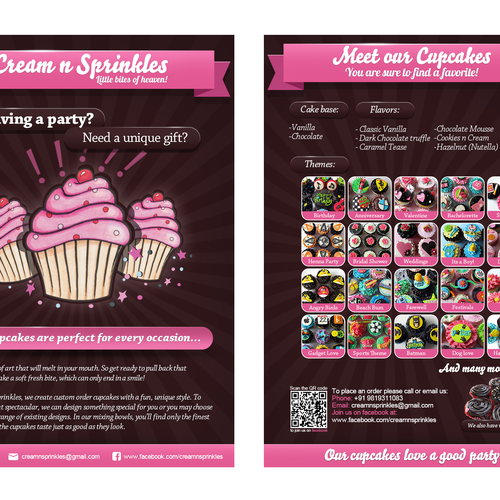Cupcake Flyer for Cream n Sprinkles Design by iGreg
