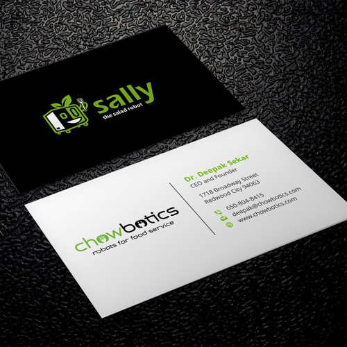 Business cards for salad robot company business card contest entries from this contest colourmoves Choice Image