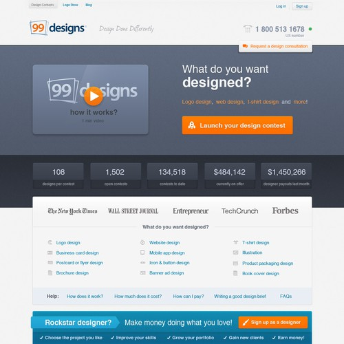 99designs Homepage Redesign Contest Web Page Design Contest 99designs