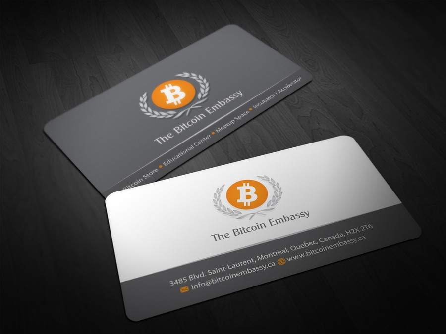 business card for Bitcoin Embassy | Business card contest
