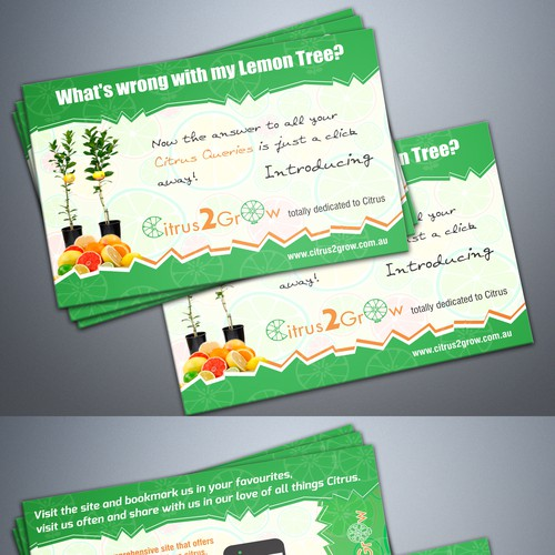 Citrus Site needs eye catching Promotional Post Card with zest and zing Design by Davud