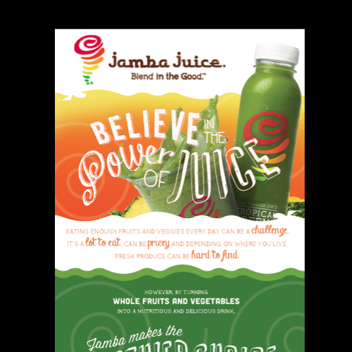 Create an ad for Jamba Juice Design by arnhival