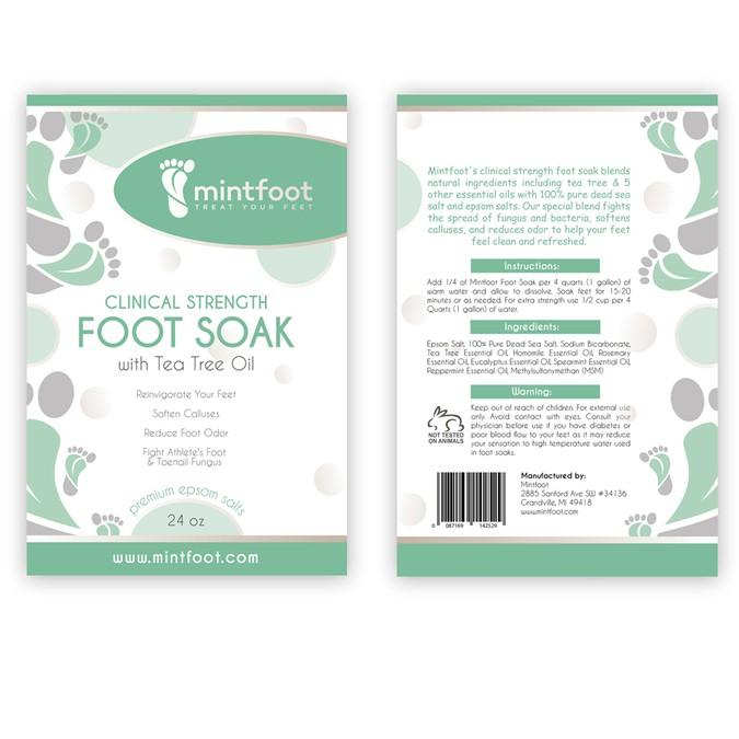 Design a Memorable Pouch Package for a Sea Salt Foot Soak by Minfoot