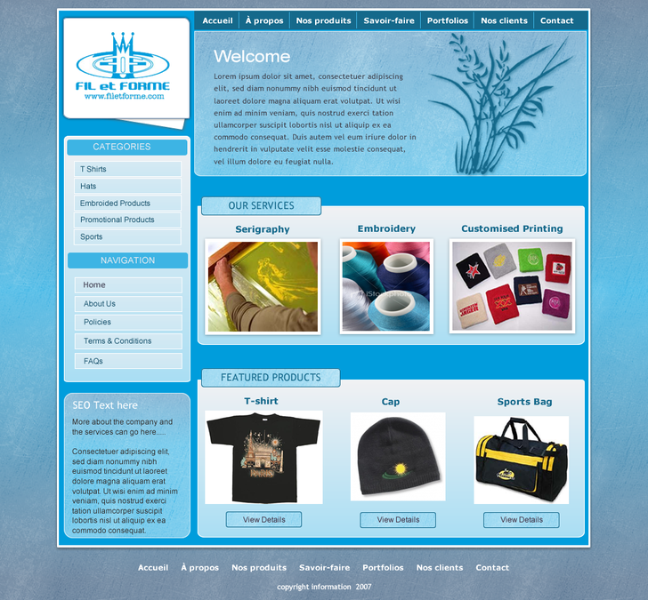 website template for silk screen printing embroidery etc web page design contest. Black Bedroom Furniture Sets. Home Design Ideas