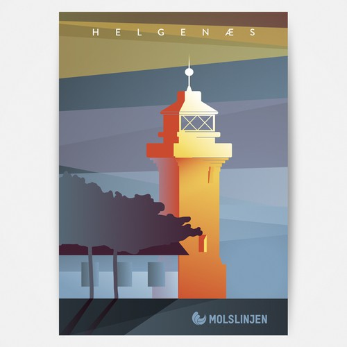 Multiple Winners - Classic and Classy Vintage Posters National Danish Ferry Company Design by A-Sz