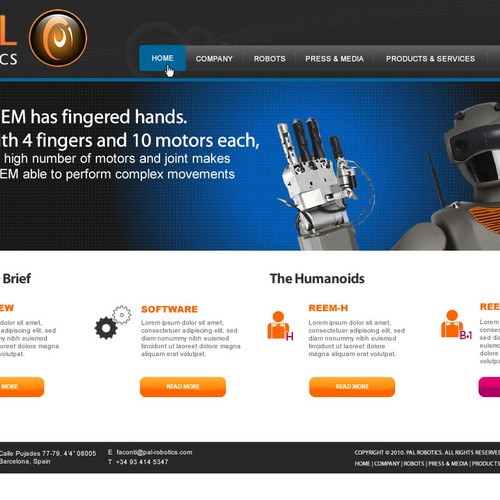 Design finalisti di Webnomica