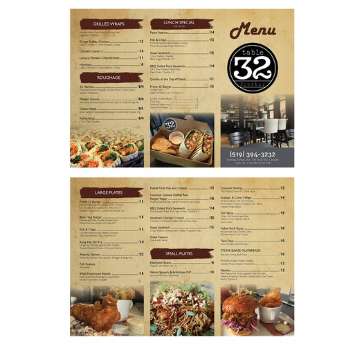 Take out menu marketing material new restaurant