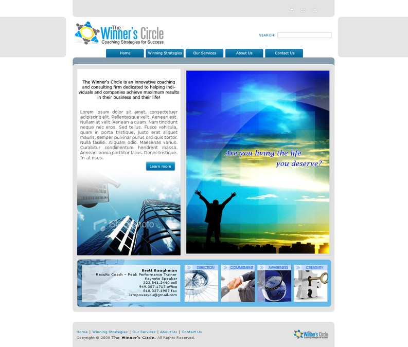 Winning design by JMDwebdesign