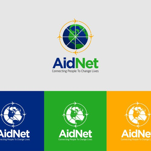 create a captivating logo for a global ngo called aidnet