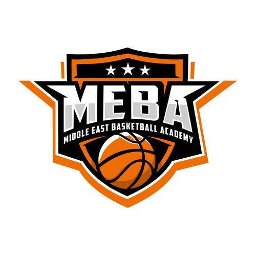 design a powerful basketball logo for the middle east basketball