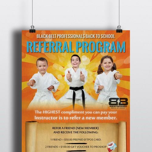 referral program poster