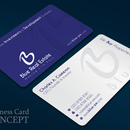Business card real estate investingdevelopment company simple entries from this contest reheart Image collections