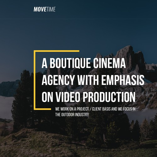 Video Production Company Website // Simplistic Design Design by ariecupu
