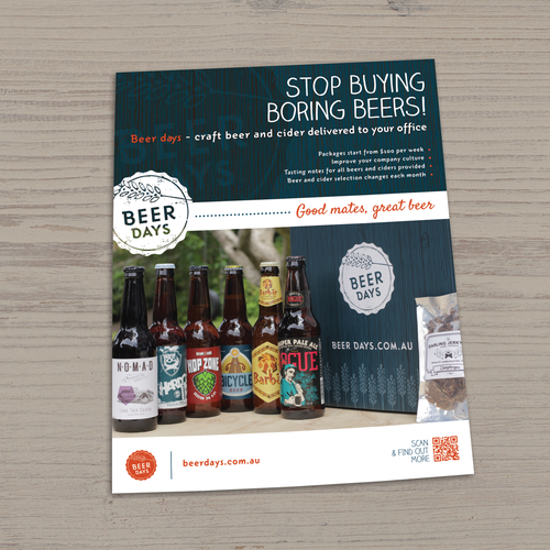 Design Flier for Craft Beer delivery service Design by Lefteris P.