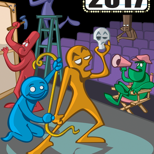 Guide Cover for the 2017 Hollywood Fringe Festival Design by Melonpool