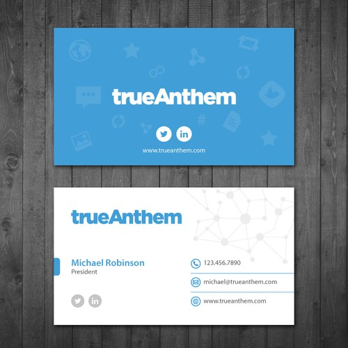 Business cards for innovative tech startup business card contest runner up design by tcmenk reheart Image collections