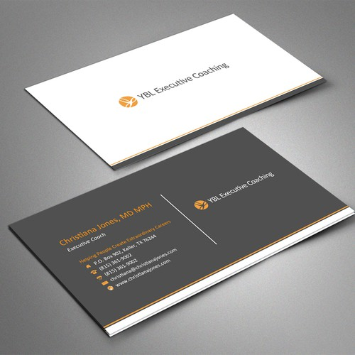 Create a high end business card for executive coaching business entries from this contest colourmoves