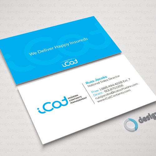 Create business card for software company business card contest runner up design by designc reheart Image collections