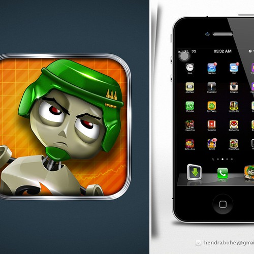 IPhone App Icon For Physics Puzzle Game, Dummy Defense
