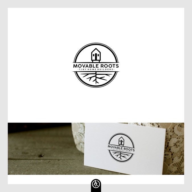Movable roots tiny home builder logo logo design contest for Home decor logo 99 design contest
