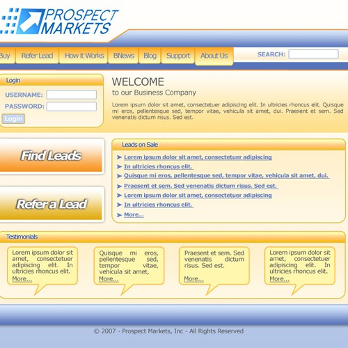 Runner-up design by netbusiness