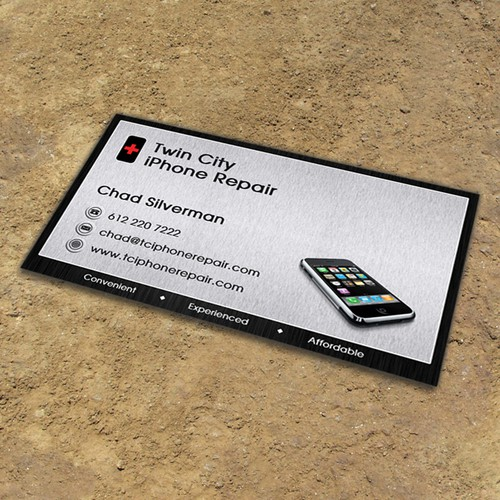 Looking for several new business card templates for iphone repair runner up design by lsdesign reheart Gallery