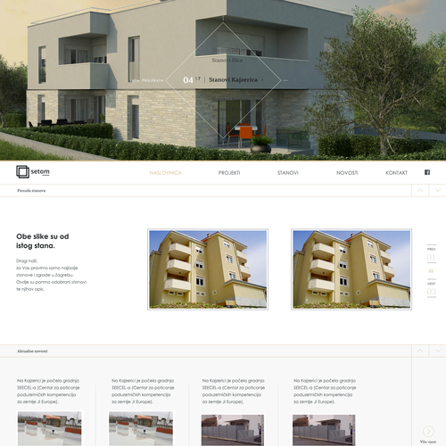 Create a dynamic impactful home page design for a leading for Real estate design software