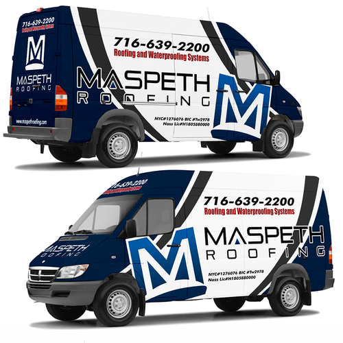 truck wrap templates - van wrap for maspeth roofing car truck or van wrap contest