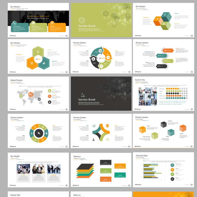 company presentation template for data driven consulting agency