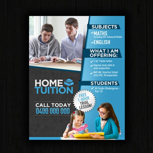 Create A Home Tuition Flyer Postcard Flyer Or Print Contest